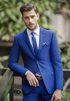 Make your groom your something blue! • The BEST ideas for your gorgeous groom's suit, accessories, colour choice and more on the Wedding Ideas now!
