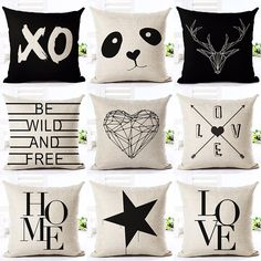 Cheap pillow cushion, Buy Quality decoration pillows cushion directly from China decorative pillows Suppliers: Deer Love Star Panda Printed Cotton Linen Pillowcase Decorative Pillows Cushion Use For Home Sofa Car Office Almofadas Cojines Office Star, Car Office, Cotton Linen, Printed Cotton, Printed Linen, Cotton Pillow, Cushion Covers, Pillow Covers, Car Sofa