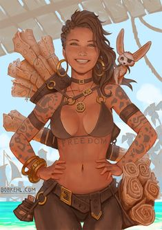 Female Character Design, Character Design Inspiration, Character Concept, Character Art, Dungeons And Dragons Characters, Dnd Characters, Fantasy Characters, Pirate Art, Pirate Woman