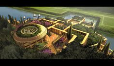Les jardins suspendus de Babylone (Irak), The hanging gardens of Babylon (Iraq) Fantasy City, Fantasy Castle, Fantasy Places, Fantasy World, Ancient Mesopotamia, Ancient Civilizations, Ancient Near East, Fantasy Setting, Seven Wonders