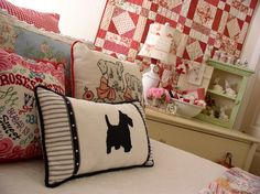 Ranked as one of the most popular dog breeds in the world, the Miniature Schnauzer is a cute little square faced furry coat. Cute Pillows, Bed Pillows, Quilting, Guest Room Decor, Cottage Style Decor, Parade Of Homes, Needlepoint Pillows, Decoration, Sewing Projects