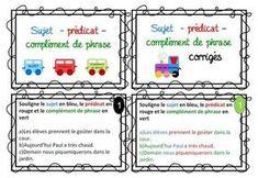 Cartes autonomie pour l'analyse de phrases Cycle 3, Task Cards, Phrases, Notebook, Bullet Journal, Education, School, Voici, Train