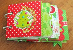 Doodlebug Design Inc Blog: Santa Express: December Daily Album by Kathy Skou.