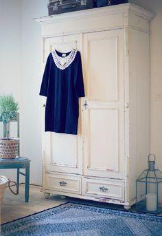 Lumoan Aava hanging on Emilia´s wardrope @ Uusi kuu Shabby Chic, Warehouse, Clothes, Style, Fashion, Furniture, Ad Home, Chic, Outfit
