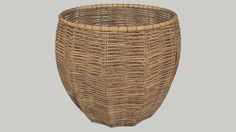 Rattan Basket - 3D Warehouse Sketchup Rendering, Sketchup Models, Diy Bedroom Decor, Wall Decor, Home Decor, 3d Home, 3d Warehouse, Rattan Basket, Laundry Basket
