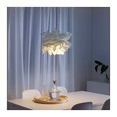 IKEA - KRUSNING, Loftlampeskærm, Lav din egen personlige loftlampe ved at kombinere lampeskærmen med et ledningssæt efter dit valg.Du kan lave dit eget unikke design ved at krølle papirlagene sammen til forskellige former.Du kan skabe en blød og hyggelig stemning i dit hjem med en lampeskærm af papir, der giver diffus og dekorativ belysning.