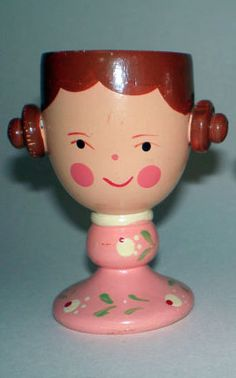 That's a vintage egg cup with princess Leia hair. lol!
