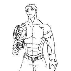 John Cena Vs Rey Mysterio In WWE Coloring Pages Sports Coloring