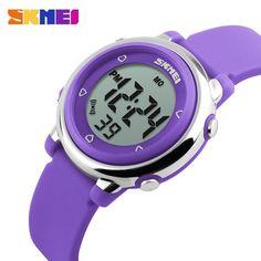 SKMEI Children LED Digital Watch Relogio Feminino Sports Watches Kids Cartoon Jelly Relojes Mujer Waterproof Wristwatches