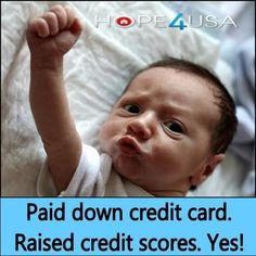 Paying down credit cards can lead to credit score AWESOMENESS! Check out other FREE credit repair tips at the www.hope4usa.com credit blog.