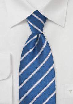 Businesskrawatte filigranes Streifen-Muster rauchblau