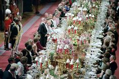 President Ronald Reagan addressing a dinner at Windsor Castle during trip to the United Kingdom.  6/8/82.