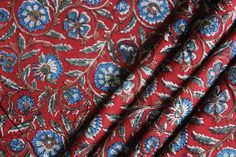 """44/"""" Wd Cotton Fabric Apparel Dress Material Floral Print SewCraft 1 Metre"""