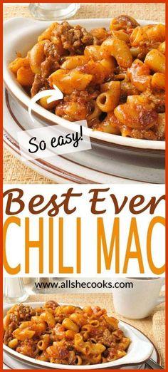 I whole heartedly believe this is the best chili mac recipe you will find anywhere in the world! It's a quick and easy dinner recipe and a comfort food favorite. This chili mac and cheese casserole is loaded up with ground beef, macaroni, tomato soup, and mozzarella cheese. If your family loves hamburger - they will love this simple dinner! #chilimac #easydinner  Easy Dinner Recipe   Chili Mac Casserole   Chili Mac and Cheese