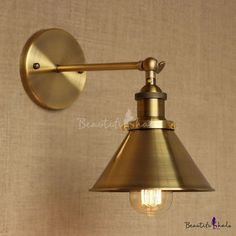 $65.81 Favorite for Kitchen Above Sink, Brass Finish 1 Light Wall Sconce with Cone Shade