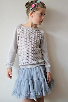 Lucinda is a lightweight lace sweater. It has a perfect amount of positive ease and the sleeves are puffy. Diy Knitting Projects, Kids Knitting Patterns, Knitting For Kids, Knitting Designs, Thick Sweaters, Fall Sweaters, Lace Sweater, Work Tops, My Design