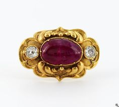 - Victorian brooch with ruby diamonds