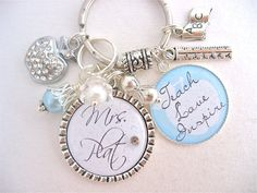 bottle cap charm keychains | TEACHER GIFT Personalized Bottle cap Pendant Keychain Necklace, Mother ...