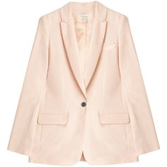 PAUL & JOE Classic Blazer (£165) ❤ liked on Polyvore featuring outerwear, jackets, blazers, pink jacket, pink shawl, shawl jacket, pink blazer jacket and lapel jacket