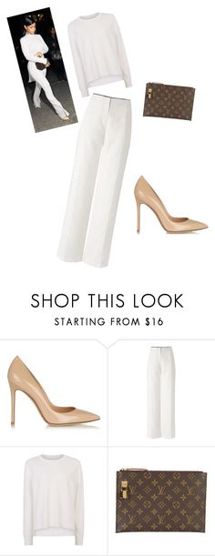 """""""My First Polyvore Outfit"""" by kysmi ❤ liked on Polyvore featuring Gianvito Rossi, Sweaty Betty and Louis Vuitton"""