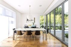 Modern and light: Most of the rooms in the house have floor to ceiling windows. Floor To Ceiling Windows, Detached House, Property For Sale, Building A House, Home And Family, Flooring, Living Room, Interior Design, Rooms