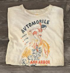 Items similar to rodeo tee on Etsy Cool Tees, Cool T Shirts, Tee Shirts, Vintage Wear, Vintage Outfits, Vintage Ladies, Surf, Pin Up, Apparel Design
