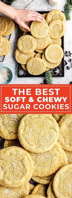 If you're looking for the ultimate recipe for soft and chewy sugar cookies, you've come to the right place. Not only are these sugar cookies fantastically buttery, tender, and doughy; but they also stay soft for days on end. Cupcake Recipes, Cookie Recipes, Cupcake Cakes, Dessert Recipes, Slow Cooker Desserts, Chewy Sugar Cookies, Sugar Cookies Recipe, Food C, My Dessert
