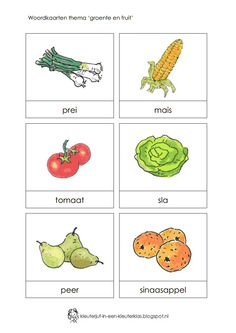 f rite word. Vegetable Crafts, Learn Dutch, Dutch Language, Preschool Activities, Crafts For Kids, Vegetables, Spelling, Classroom, Letters
