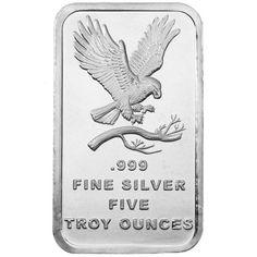 Buy 5 oz SilverTowne Eagle Design Silver Bars - Silver.com