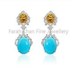 An intricate nature inspired construction in citrine and diamonds that leads to an imposing turquoise stone earrings by @farahkhanali @farahkhanfinejewellery 😍 😍 😍  #jewellery #jewelry #precious #luxury #fashion #india #instalike #finejewellery #instajewel #instagood #instapic #luxurylifestyle #luxuryjewelry #earrings #farahkhanali #diamonds #gemstone #ring #diamondrings - #regrann
