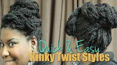 {45} 3 Quick & Easy Kinky Twist Updo Styles