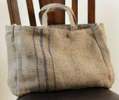 Sew Bag Burlap Tote Bag - Large Natural Burlap 16 x 12 Tote Bag Coffee Bean Bags, Coffee Sacks, Coffee Cups, Burlap Tote, Burlap Fabric, Hessian, Diaper Bag Backpack, Diaper Bags, Sack Bag