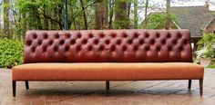 Leather Settees or Banquettes Bench Seating Kitchen Table, Corner Bench Seating, Booth Seating, Banquette Seating, Floor Seating Cushions, Lounge Seating, Office Seating, Banquettes, Built In Garden Seating