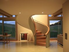 Curved house grand designs australia - House and home design Grand Designs Australia, Sustainable Architecture, Architecture Design, Amazing Architecture, Cob House Interior, Interior Design, Grand Designs Houses, Marlborough House, Curved Staircase
