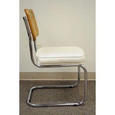 Cesca Breuer Italian Mid-Century Modern Cane Back Chrome Kitchen Dining Chair - Image 4 of 11