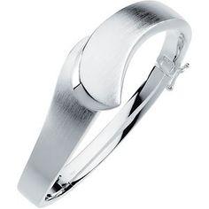Sterling Silver 19.5mm Hinged Bangle Bracelet | Stuller