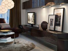 Tv och tv-möbel integrerad