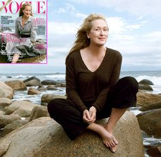 The oldest woman on the cover of Vogue, at 62