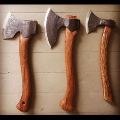 My three main carving axes, well used and well made tools. Carpentry Tools, Woodworking Hand Tools, Wood Tools, Axe Sheath, Sword Hilt, Blacksmithing Knives, Axe Handle, Beil, Viking Axe