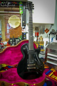 Gibson Les Paul Gothic - Fret Dress and setup for Open B Tuning
