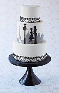 торт с силуэтами - Поиск в Google