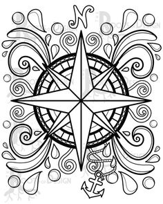 The Witch's Moon Embroidery Pattern by Meg Hawkey From Crabapple Hill Studio - Embroidery Design Guide Adult Coloring Book Pages, Printable Adult Coloring Pages, Mandala Coloring Pages, Colouring Pages, Coloring Books, Geometric Coloring Pages, Pattern Coloring Pages, Mandala Design, Mandala Print