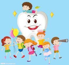 卡通牙齿与卡通儿童漫画