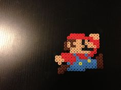 Jumping 8 Bit Mario Perler Bead Bit Art on Etsy, $2.00 CAD
