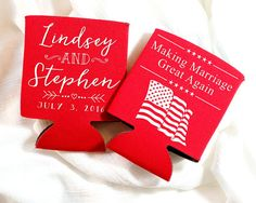 Anniversary Favors Making Marriage Great Again Political Wedding Favors Fun Wedding Favors American Wedding American Flag Party 1479 by SipHipHooray