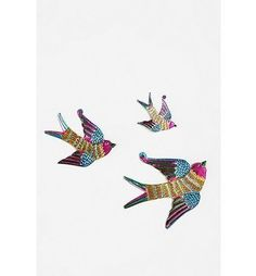 Tin Birds Sculpture Wall Art