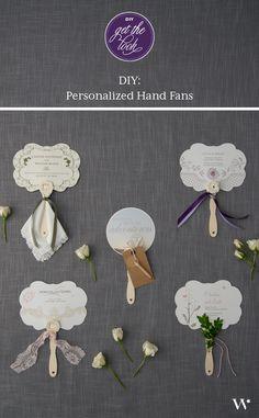 DIY Wedding Tutorial: Hand Fans | Wedding Favors | Wedding Reception | Wedding Ceremony