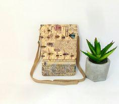 Entomology Fabric bag.For phone Bag.Small Crossbody Bag.Compact Carry Bag.Print Insect.Travel Bag.Shoulder Bag.Phone Purse.Cell Phon Wallet High Holidays, Cell Phone Wallet, Small Crossbody Bag, Small Shoulder Bag, Little Bag, Carry On Bag, Small Bags, Travel Bag, Fabric