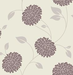 Bronte Chocolate Cream Floral Wallpaper