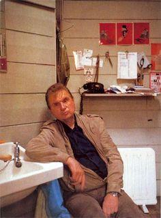 Francis Bacon en 1984 par John Edwards with a Rolex GMT master